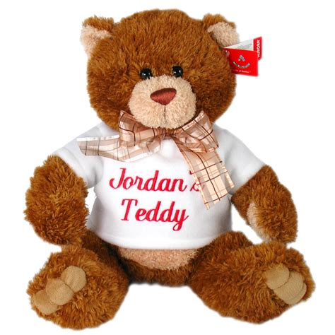 teddy bear with personalized t shirt