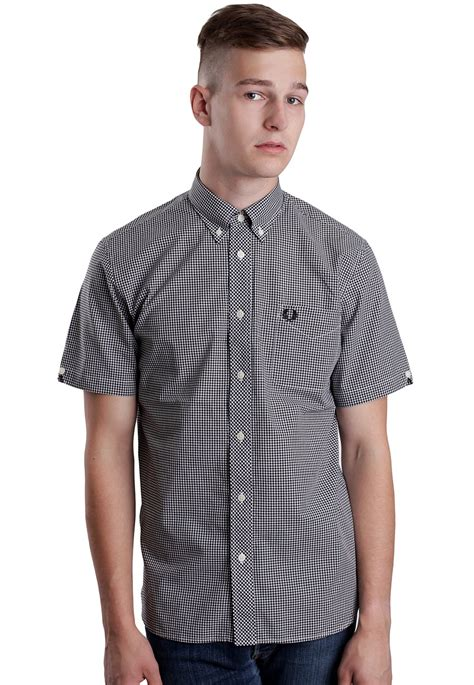 Fred Perry fred perry gingham s s shirt streetwear shop