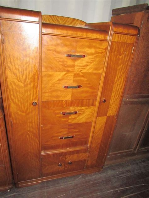 cedar wardrobe armoire art deco waterfall armoire dual cedar closets w drawers