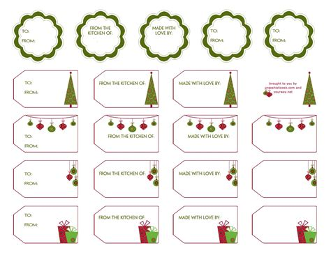 free printable gift tags templates gift label templates new calendar template site