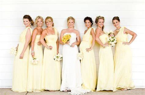 light yellow bridesmaid dresses yellow bridesmaid dresses dressed up