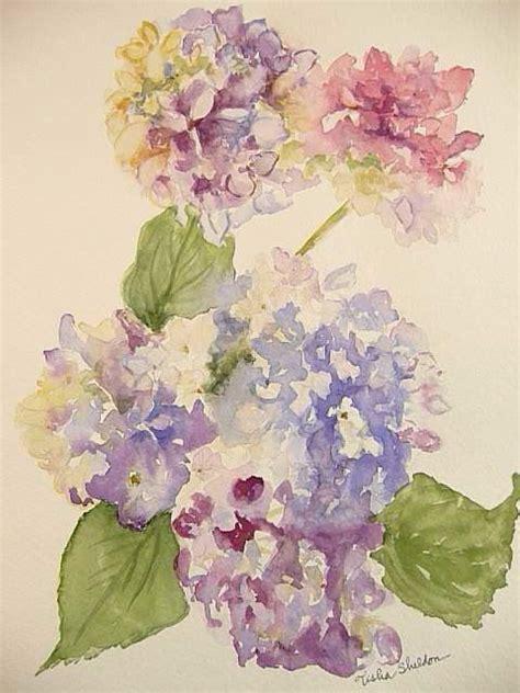 watercolor hydrangea tutorial hydrangias loose watercolor hydrangea watercolor and