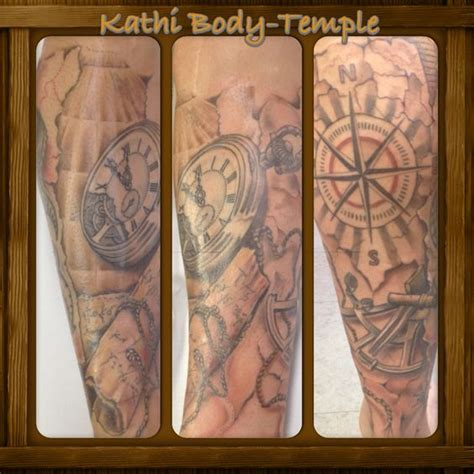 body temple tattoo kompass seekarte temple potsdam
