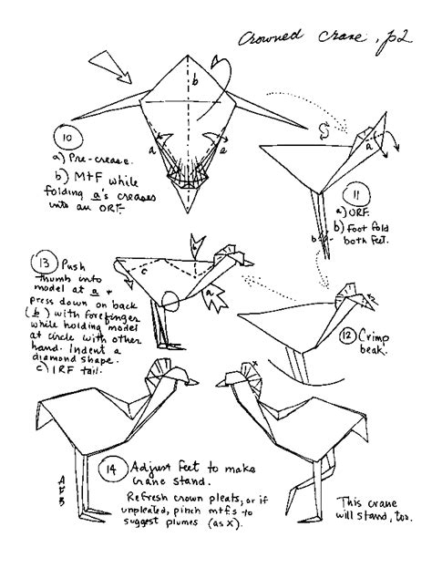 Origami Crane Diagram - barbour origami