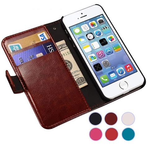 For Iphone 5 5g 5s 5se Flip Mirror Cover luxury flip leather for apple iphone 5 5s se iphone5 s 5se wallet stand coq cases covers