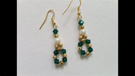 how to make swarovski jewelry diy easy swarovski bicone earrings how to make swarovski