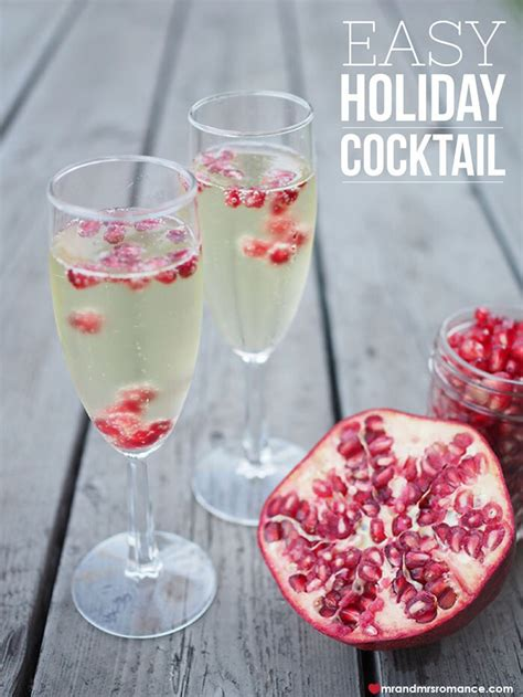 easy holiday cocktails pomegranate fizz mr and mrs