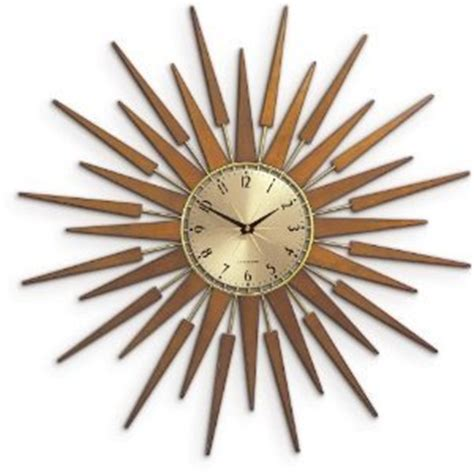 60s clock newgate 60s pluto starburst wall clock amazon co uk