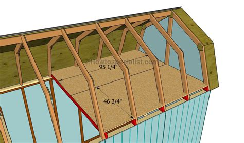 gambrel roof plans how to build a gambrel roof shed howtospecialist how