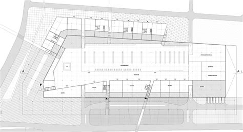 building ground floor plan gallery of office building with shopping mall mjz 3
