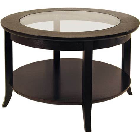 genoa coffee table with glass top espresso