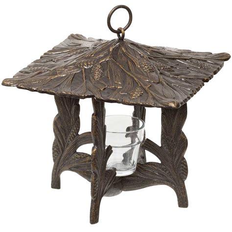 pine cone tea light holder pinecone hanging tea light lantern in candle holders