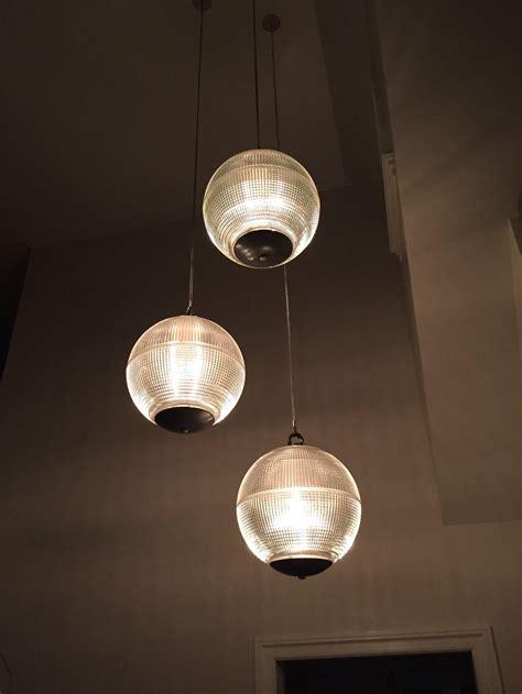 large holophane glass sphere globe light for sale at 1stdibs