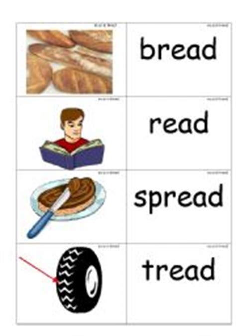 ea as in bread worksheets word picture cards containing 180 ea 180 as in bread