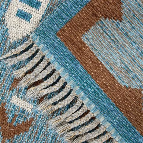 Modern Flat Weave Rugs Scandinavian Modern Flat Weave Rollakan Rug In Blue And Gray For Sale At 1stdibs