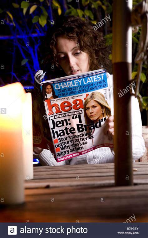 reading celebrity gossip magazines celebrity gossip magazine stock photos celebrity gossip