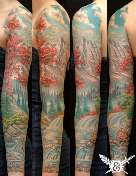 nature sleeve tattoo nature sleeve by russ abbott think before you ink