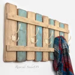 Wood coat rack handmade decor ideas for decorating a beach house