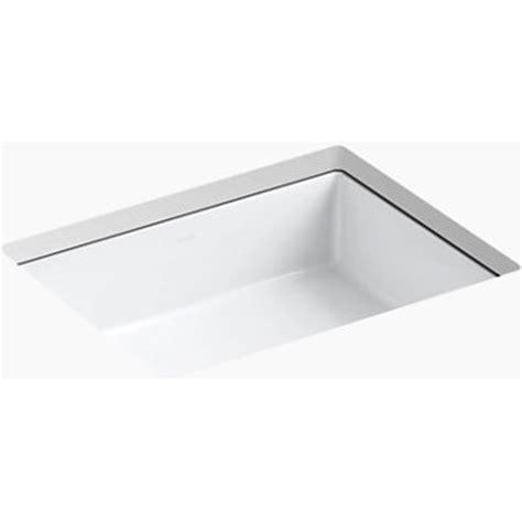 Kohler K 2882 0 Verticyl White Undermount Single Bowl Bathroom Sinks   eFaucets.com