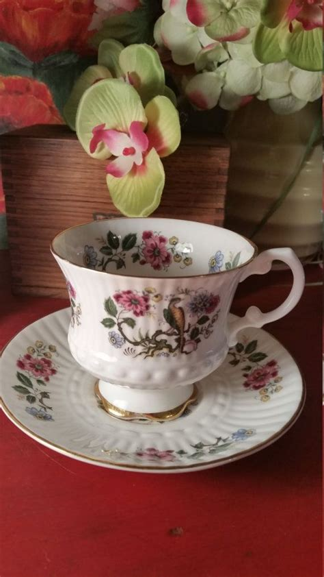 tara pattern in japanese royal tara bird of paradise teacup and saucer set fine
