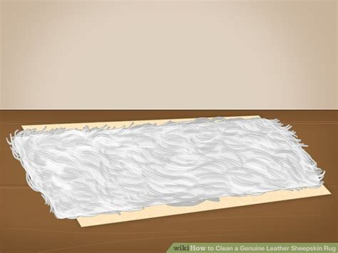 how to clean a leather rug how to clean a genuine leather sheepskin rug 9 steps