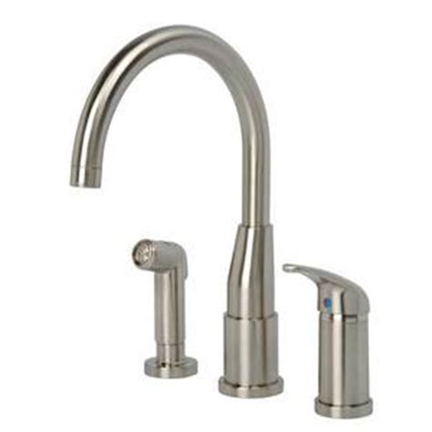 artisan kitchen faucets hi rise spout kitchen faucet w spray by artisan mf 230 sn