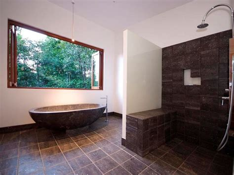 Modern Bathroom Windows Modern Bathroom Design With Bi Fold Windows Using Tiles Bathroom Photo 480152