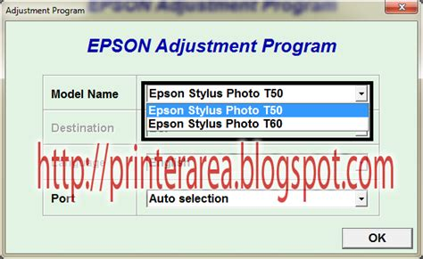 resetter epson t60 working cara reset epson t50 t60 100 work printer area