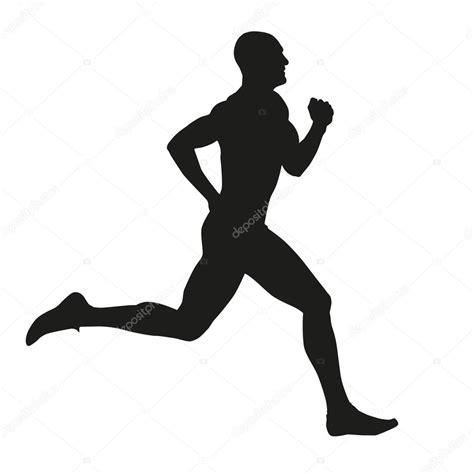 imagenes siluetas negras runner isolated silhouette stock vector 169 msanca 65000733