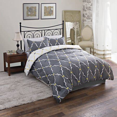 Cheap Comforters Walmart by Trellis Reversible Bedding Comforter Set Walmart