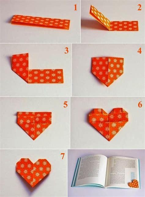 tutorial origami quadrifoglio f 234 te des m 232 res un marque page en forme de coeur fait en