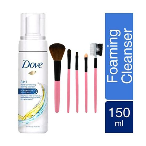 Harga Dove 3 In 1 Makeup Remover jual dove 3 in 1 make up remover free make up brush set