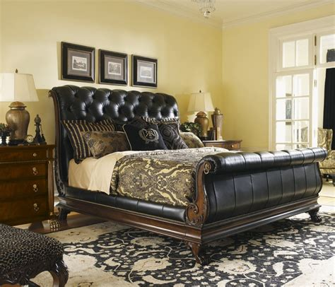 black king size headboard black leather king size headboard james mont gilt