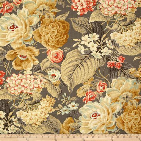 home decor print fabric waverly floral flourish clay jo ann waverly floral flourish clay discount designer fabric