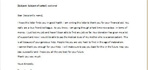Financial Contribution Thank You Letter reference letter for a co worker writeletter2