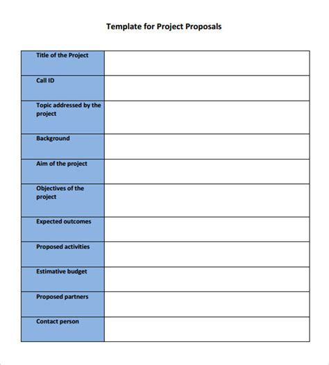 22 Proposal Sles Sle Templates Bid Template Pdf