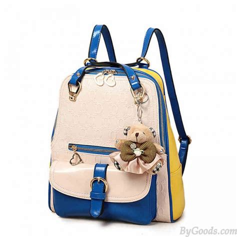 Backpack Fashion fashion contrast color preppy school backpack fashion