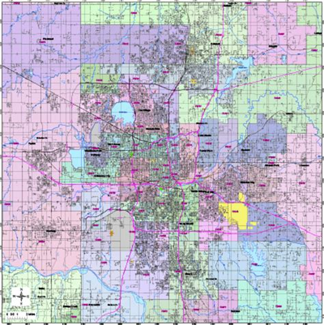 oklahoma city zip code map oklahoma city digital vector maps editable illustrator pdf vector map of oklahoma city