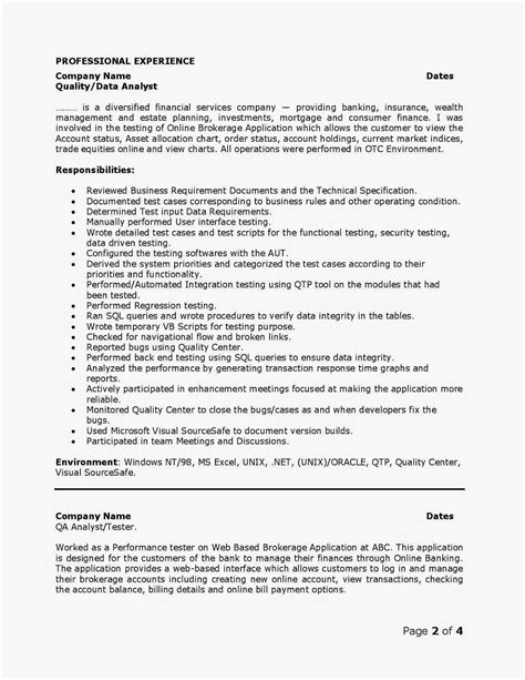 Resume Sles For Qa Analyst H1b Sponsoring Consultancies In The United States Quality Analyst Qa Resumes