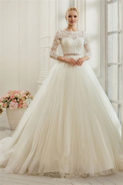 Wedding Dresses With Sleeves by Princess Wedding Dresses With Sleeves Naf Dresses