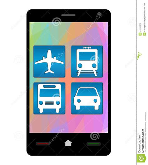 Your Mobile Phones The Ticket To The 02 Wireless Festival With Oyster Card Style Technology by Smartphone Travel Icons Stock Illustration Image 44188926