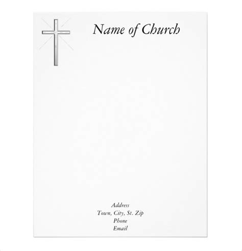 Church Christmas Decorations Letter Of Recommendation Church Stationery Templates