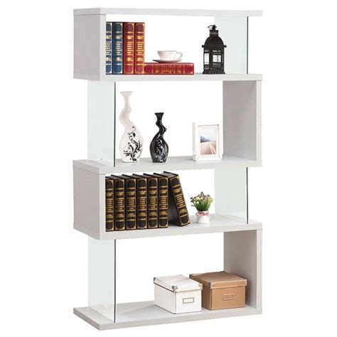 modern shelving zig zag bookcase eurway furniture