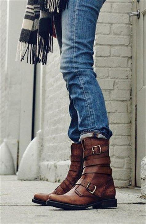 Sepatu Class Black Boots Kulit shoes blue brown boots acid washed