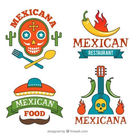 logotipos de cocina set de logos de comida mexicana deliciosa descargar