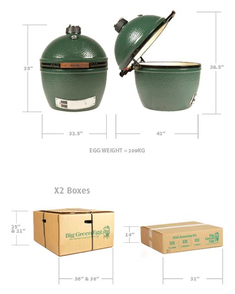 how do you like your eggs big green egg sizes