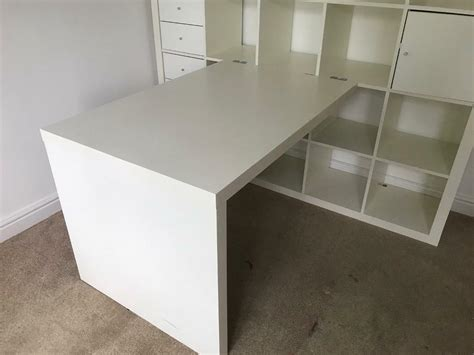 ikea white kallax desk  sutton coldfield west