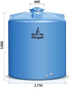 Tangki Air Penguin Kapasitas 1050 Liter Tb 110 tangki silinder penguin tb 1600