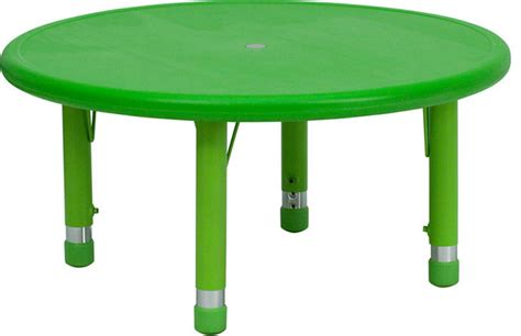 Tables For Toddlers 33 height adjustable green plastic activity table