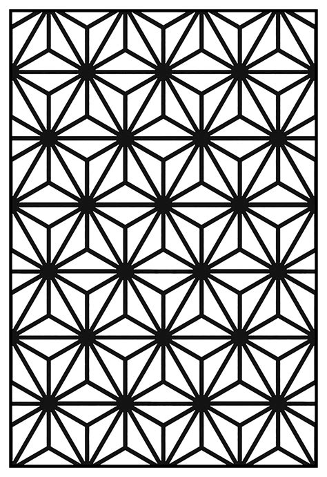 pattern with geometric motifs geometric patterns art deco 10 art deco adult coloring pages